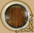 LARP RFB round shield - wood